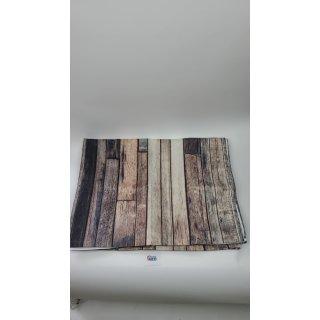 ABAKUHAUS Hölzern Tischdecke.Waschbar.140 x 200 cm. Braun