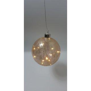 Leuchtobjekt Kugel Glimmer, Glas, D:12cm, altrosa