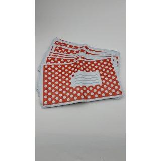 50st Versandtaschen blickdicht Red Polka Dots 150X230MM