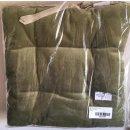 Linvosges Zweifarbige Sitzkissen 40 x 40cm - moosgrün