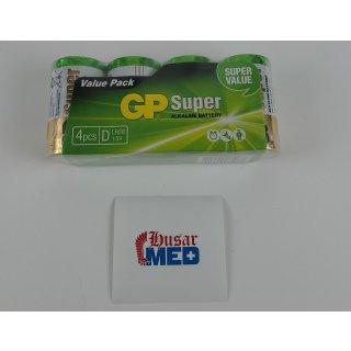 Mono-Batterie-Set GP SUPER Alkaline 4 Stück