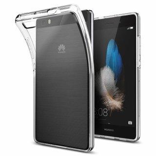Huawei P8 Lite 2015 Hülle, Spigen® [Liquid Crystal] Soft Flex Silikon [Crystal Clear] Transparent Ultra Dünn Schlank BumperStyle Handyhülle Premium Kratzfest TPU Durchsichtige Schutzhülle für Huawei