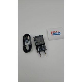 Samsung Typ C Schnellladegerät EP-TA20EBE Farbe Schwarz inkl.USB Typ-C Ladekabel