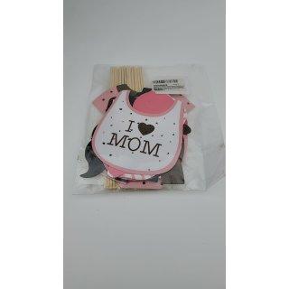 Veewon 20 Stück Fotorequisiten Babydusche Baby Shower Party Baby Flaschen Masken Photo Booth Props Neugeborene Dame Girl Partydekoration