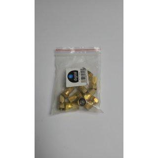 10x F-Stecker 7mm Vergoldet mit Gummidichtung
