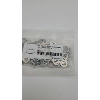 Unterlegscheiben (Standard) M8DIN125 Edelstahl A2 (100 Stück) V2A Beilagscheiben