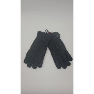 KESSLER David, sportiver Strickhandschuh für Herren mit warmem Fleecefutter und Lederinnenhand