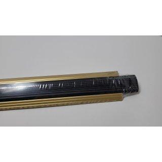 EFFEKTOR Treppenleiste mit Gummi A38 GOLD 90cm