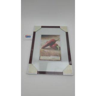 Bilderrahmen von Walther Holzrahmen Pepper 21x29,7 (A4) mahagoni - Normalglas
