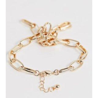 ASOS DESIGN  Armband in Gold mit offenen Kettengliedern plus Knotendetail 1398840