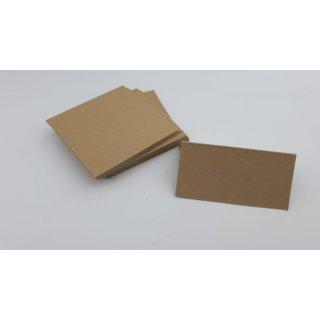 50 Tischkarten aus Naturkarton, 10 x 5 cm, 320 g/qm Kraftpapier