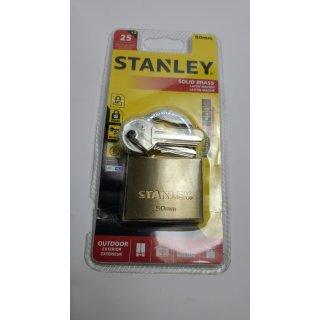Stanley Vorhängeschloss 81104371401 Vorhängeschloss 25 mm Messing Schlüsselsch