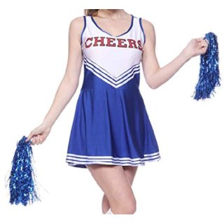 Anladia Cheerleader Kostuem Uniform Cheerleading Cheer Leader Minirock Damen Mae