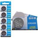 10 Stück CR2450 3V Lithium Knopfzelle Elektro CR...