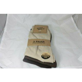Socken für Alle 3er Pack - 100% Baumwolle - Gr. 43-46