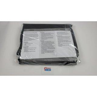 infactory Fliegengitter: Selbstschließendes Premium-Fliegennetz für Türen, schwarz 100x220cm