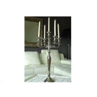 Kerzenleuchter 80cm Silber Farbend  5-flammig