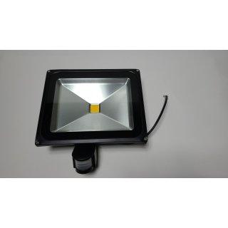 50W LED-Strahler Fluterlichtstrahler + Bewegungsmelder IP65