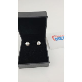 Susan Y Damen Ohrringe Perlenserie 925 Sterling Silber mit Swarovski Perlen weiß