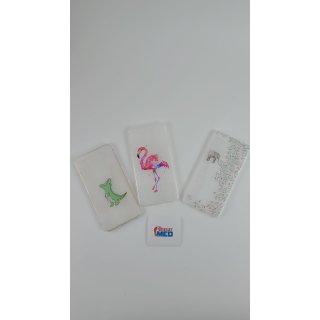 3er Pack iPhone 6 Plus  Silikonhülle Cartoon - Krokodil & Elefant & Flamingo