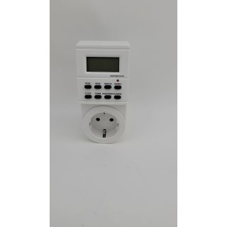 """Arendo Digitale Zeitschaltuhr   1,5"""" LCD-Display   3680W   8 ON/Off Programme"""