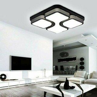 Deckenleuchte Wohnzimmer Design Weiß Schlafzimmer Deckenlampe Beleuchtung 36W