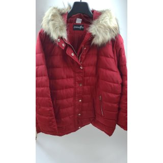 Dress In Jacke mit abnehmbarem Webpelz - Damenmode weinrot Jacken & Mäntel XL
