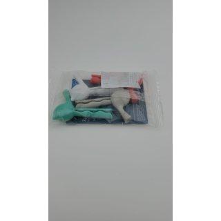 Koziol tutenclip in Vogel-Form Tasche Clips (4 Pack) – verschiedene Farben