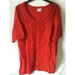 Mona Lisa Damen Shirt in rot mit Muster