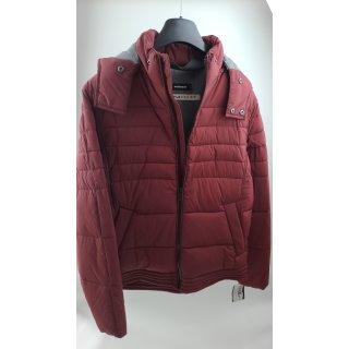 Walbusch Herren Easy-Flex Jacke in normalen Größen einfarbig Weinrot 48