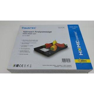 28328 KWA-8328 nutri Küchenwaage mit Nährwertfunktion 5kg 1g (Schwarz)