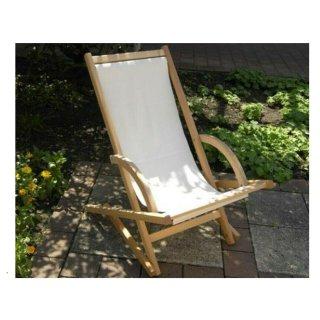 bruderhausDiakonie Liegestuhl aus Buche mit wechselbarem Bezug