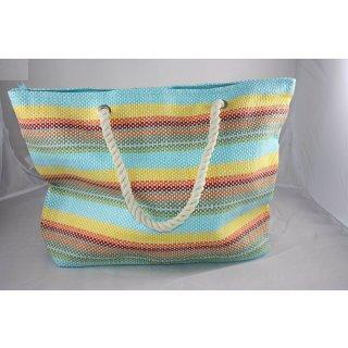 Chiara Ambra Strandtasche für Frauen buntes Streifenmuster