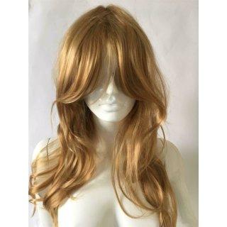Blonde lange Haare Mittelscheitel Perücke - 60cm