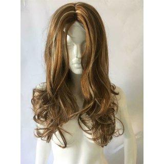 Braun Blonde Perücke mit gewellten Haar - 70cm