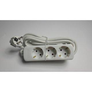 Kopp 3-fach Steckdosenleiste Standard, 5 m Zuleitung, weiß