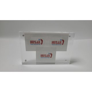 "Niubee Clear Acrylic Photo Frame 4x6"". Double Sided Magnetic Acrylic Block"
