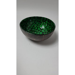 Bea Mely Mosaik-Perlmutt Schale ca. ø 13 cm, h 6 cm - grün
