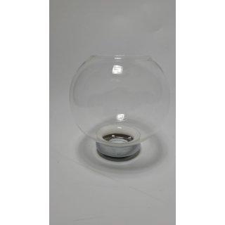 Flambeaux-Glas, Kugelform, mit Nickel-Fassung