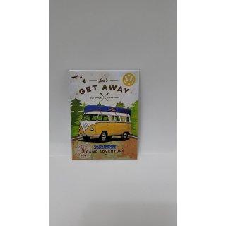 Nostalgic-Art 14330 Volkswagen - VW Bulli - Lets Get Away!, Magnet 8x6 cm