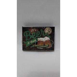 Nostalgic Art Magnet 8x6 cm Beer OClock Glasses