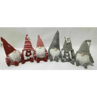 Dekofigur Wichtel Santa Arek rot Größe:Typ 3
