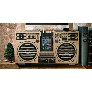 Berlin Boombox Brown - DIY Lautsprecher 100% Recyclingkarton