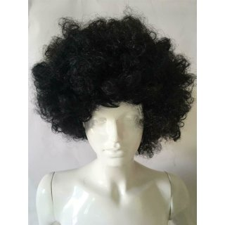 Schwarze Perücke Afro Karneval