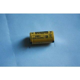 BR2/3A + Sockel * PANASONIC * BATTERIE BR2/3AE2SPE Sonderbatterie LITHIUM