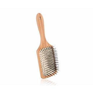 Mibella Paddelbürste/Paddelbrush, Für mittellanges bis langes Haar, Länge: 16,5 cm, Bambus/Kautschukkissen