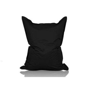 XXL Sitzsack aus Baumwolle 380l Füllung 140 x 180 cm Indoor Schwarz