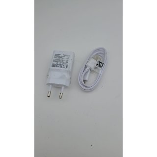 Original Samsung Ladegerät Ladekabel – Farbe Weiss - ETA-U90 - 2 Ampere Netzteil