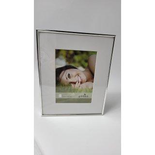 Goldbuch Portraitrahmen Fine mit Passepartout 13x18 cm , Metallrahmen zum Stelle