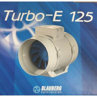 Blauberg TURBO-E-125 Rohrventilator - zwei Positionen 220/280 m3 / h - Anschluss 125mm
